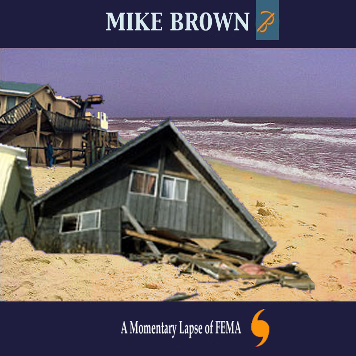 Album cover parody of A Momentary Lapse of FEMA by Pink Floyd