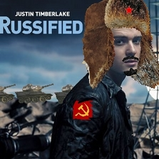 Album cover parody of Justified by Justin Timberlake
