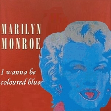 Album cover parody of I Wanna Be Loved By You by Marilyn Monroe