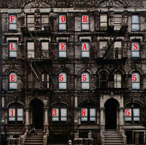 Album cover parody of Physical Graffiti by Led Zeppelin