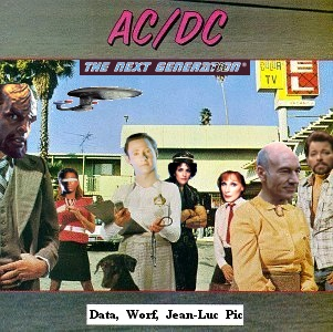 Album cover parody of Data, Worf and Jean-Luc Pic... by AC/DC-TNG