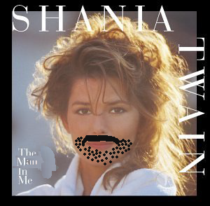 Album cover parody of The Woman in Me by Shania Twain