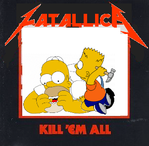 Album cover parody of Kill 'Em All by Metallica