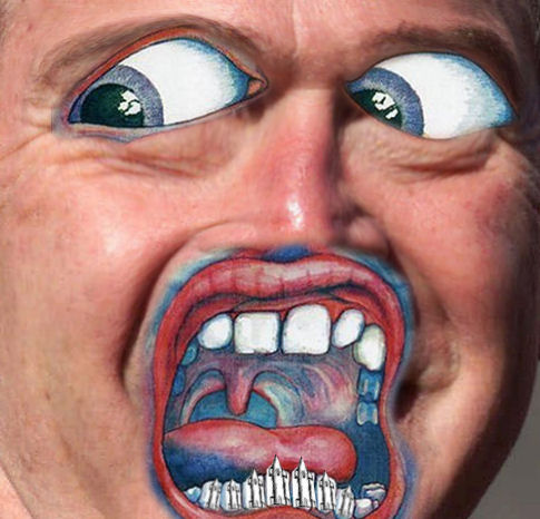 Album cover parody of In the Court of the Crimson King by King Crimson