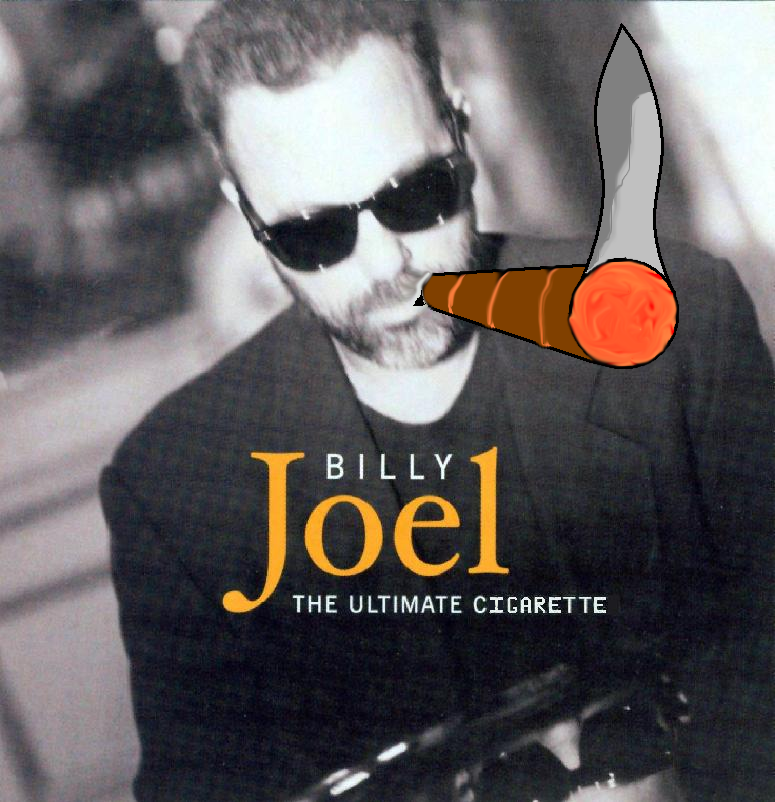 Album cover parody of The Ultimate Collection by Billy Joel