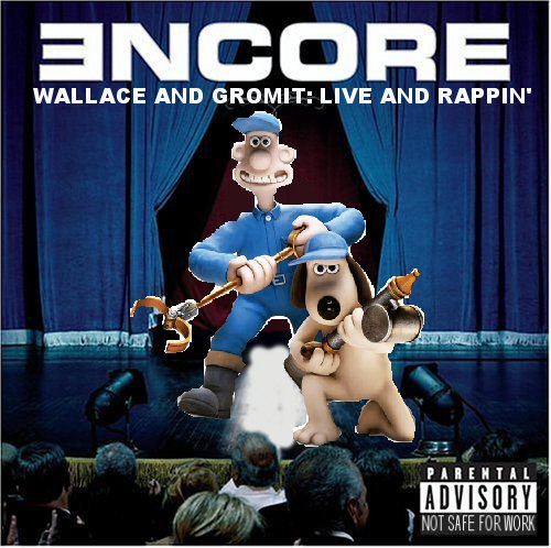 Album cover parody of Encore (Deluxe Edition) by Eminem Originally: