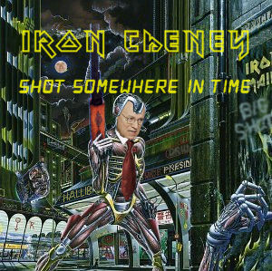 Album cover parody of Somewhere in Time by Iron Maiden