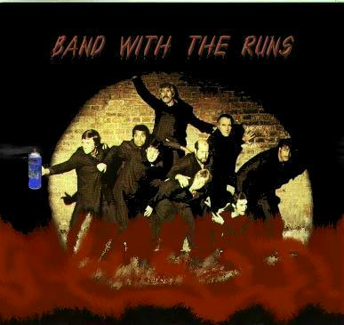 Album cover parody of Band on the Run by Paul McCartney & Wings