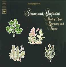 Album cover parody of Parsley, Sage, Rosemary and Thyme by Simon & Garfunkel