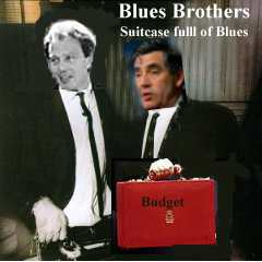 Album cover parody of Briefcase Full of Blues by Blues Brothers