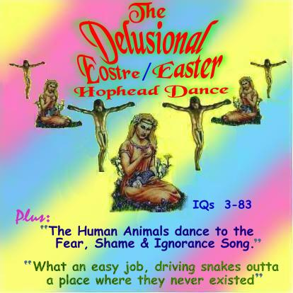 Album cover parody of The Dancing Easter Bunny Hop Song by Karin Michels