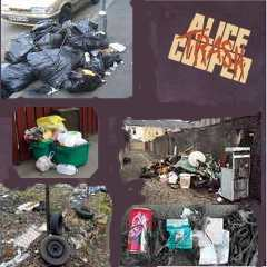 Album cover parody of Trash by Alice Cooper