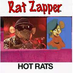 Album cover parody of Hot Rats by Frank Zappa