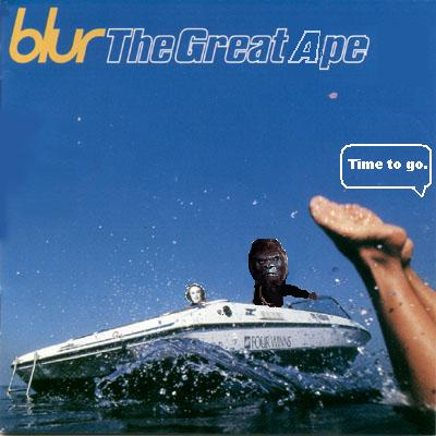 Album cover parody of The Great Escape by Blur