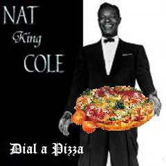 Album cover parody of Mona Lisa by Nat King Cole