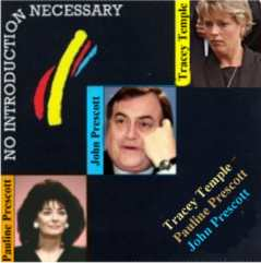 Album cover parody of No Introduction Necessary by Jimmy Page w,  Albert Lee & John Paul Jones