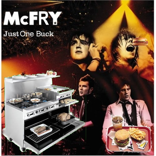 Album cover parody of Just My Luck by McFly