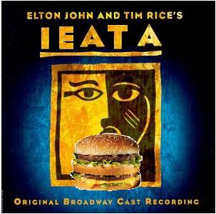 Album cover parody of Aida (2000 Original Broadway Cast) by Elton John, Tim Rice