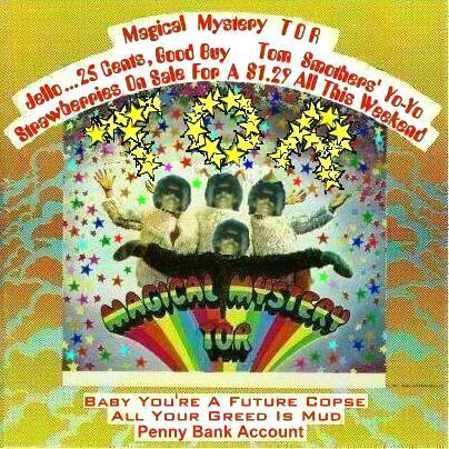 Album cover parody of Magical Mystery Tour by Beatles