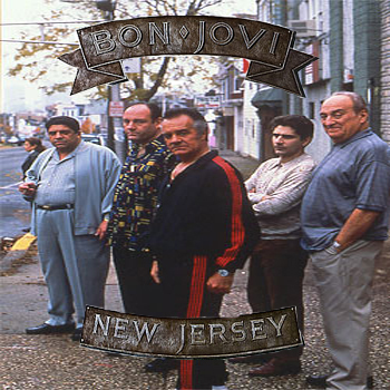 Album cover parody of New Jersey by Bon Jovi