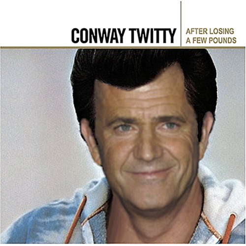 Album cover parody of Gold by Conway Twitty