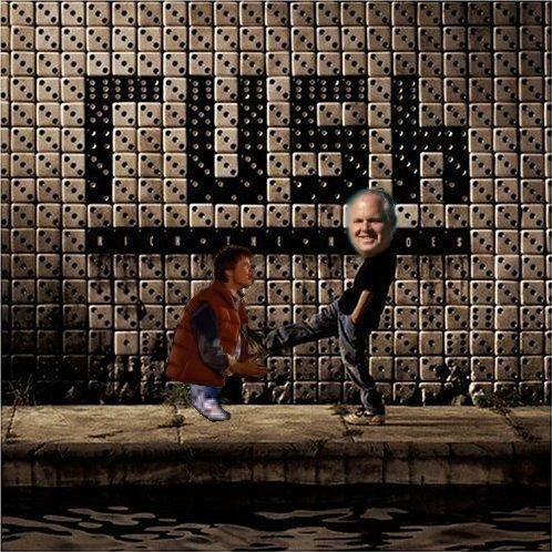 Album cover parody of Roll the Bones by Rush