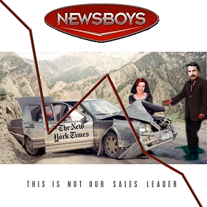 Album cover parody of Take Me to Your Leader by Newsboys