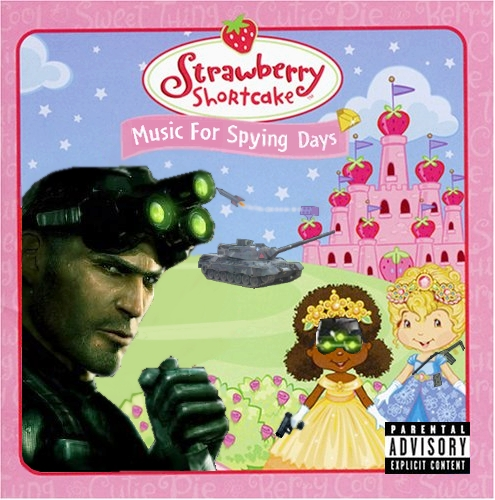 Album cover parody of Music for Dress Up Days by Strawberry Shortcake