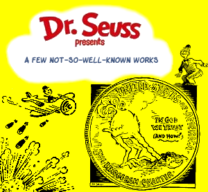 Album cover parody of Dr. Seuss Presents: Greatest Hits by Dr. Seuss