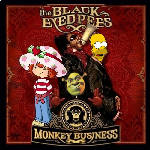 Album cover parody of Monkey Business by Black Eyed Peas
