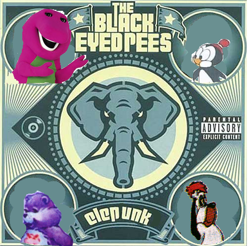 Album cover parody of Elephunk by Black Eyed Peas