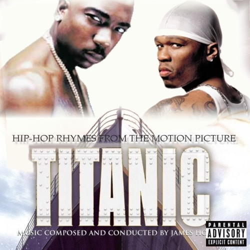 Album cover parody of Titanic: Music from the Motion Picture (1997) by James Horner, James Horner, Celine Dion, Sissel