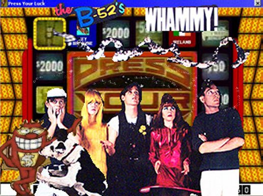 Album cover parody of Whammy! by The B-52's