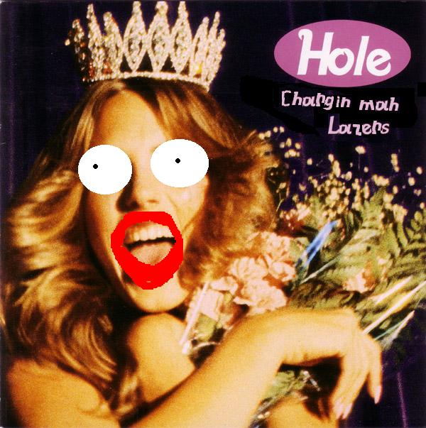 Album cover parody of Live Through This by Hole