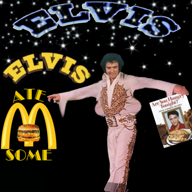 Album cover parody of Elvis At Sun by Elvis Presley