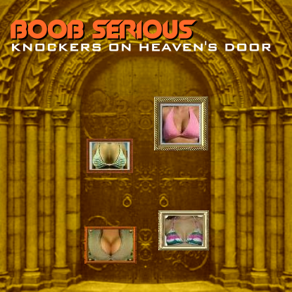 Album cover parody of Knocking on Heaven's Door by Scoob Serious