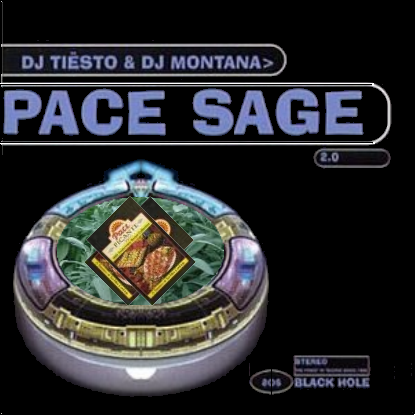 Album cover parody of Space Age 2.0 by DJ Tiesto, DJ Montana