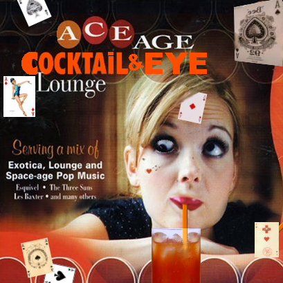 Album cover parody of Space Age Cocktail Lounge by Various Artists
