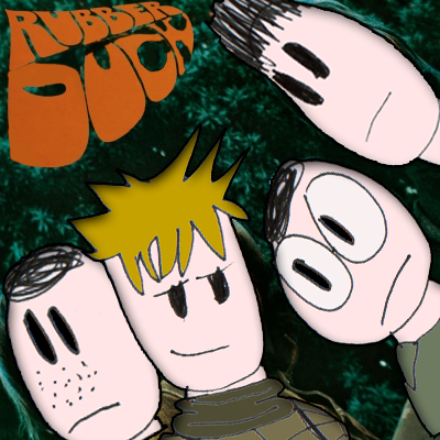Album cover parody of Rubber Soul by The Beatles