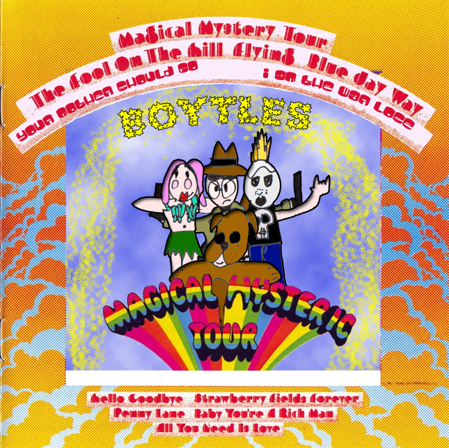 Album cover parody of Magical Mystery Tour by The Beatles