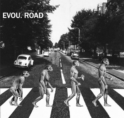 Album cover parody of Abbey Road by The Beatles