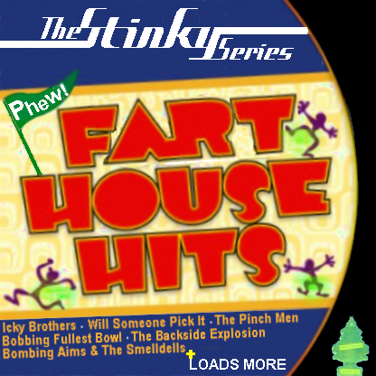 Album cover parody of The Sixties: Frat House Hits by Various Artists
