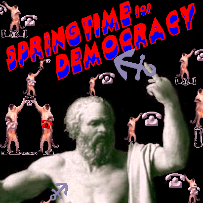 Album cover parody of Bedtime for Democracy by The Dead Kennedys