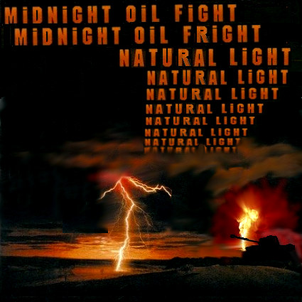 Album cover parody of Flat Chat by Midnight Oil