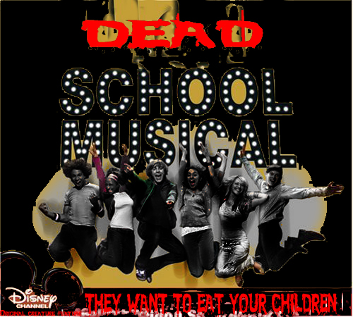 Album cover parody of High School Musical by Various Composers, Zac Efron, Vanessa Anne Hudgens, Ashley Tisdale, Lucas Grabeel, High School Musical Cast, B5