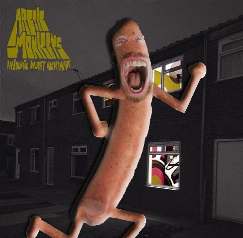 Album cover parody of Favourite Worst Nightmare by Arctic Monkeys