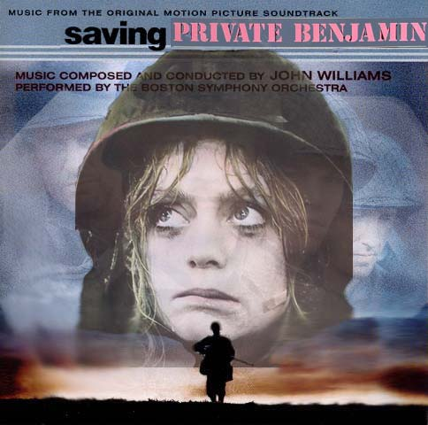 Album cover parody of Saving Private Ryan: Music From The Original Motion Picture Soundtrack by John Williams