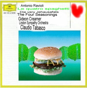 Album cover parody of Vivaldi: The Four Seasons by Gideon Kremer