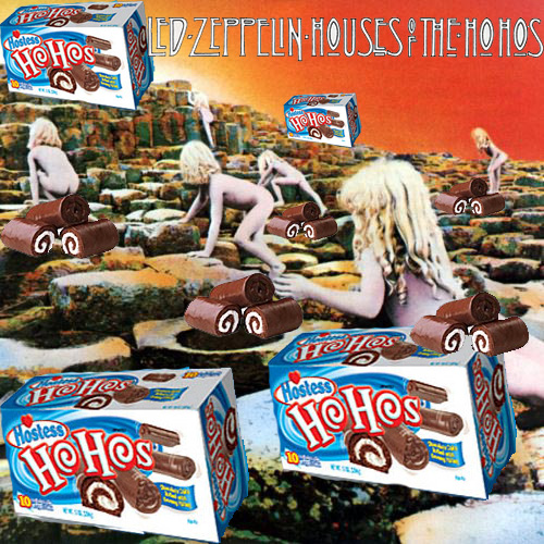 Album cover parody of Houses of the Holy by Led Zeppelin Originally: