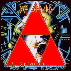 Album cover parody of Hysteria by Def Leppard